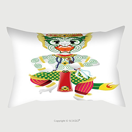 Custom Satin Pillowcase Protector Hanuman Monkey In Thai Style 274012019 Pillow Case Covers Decorative by chaoran