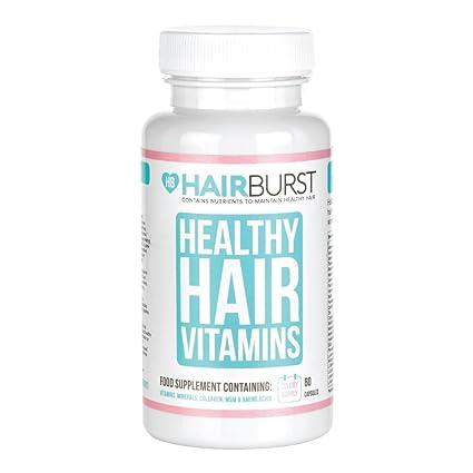 Hairburst ™ ️ Vitaminas para el crecimiento del cabello - Un suministro de un mes - 60 cápsulas - Crecimiento más rápido del cabello y garantía de ...