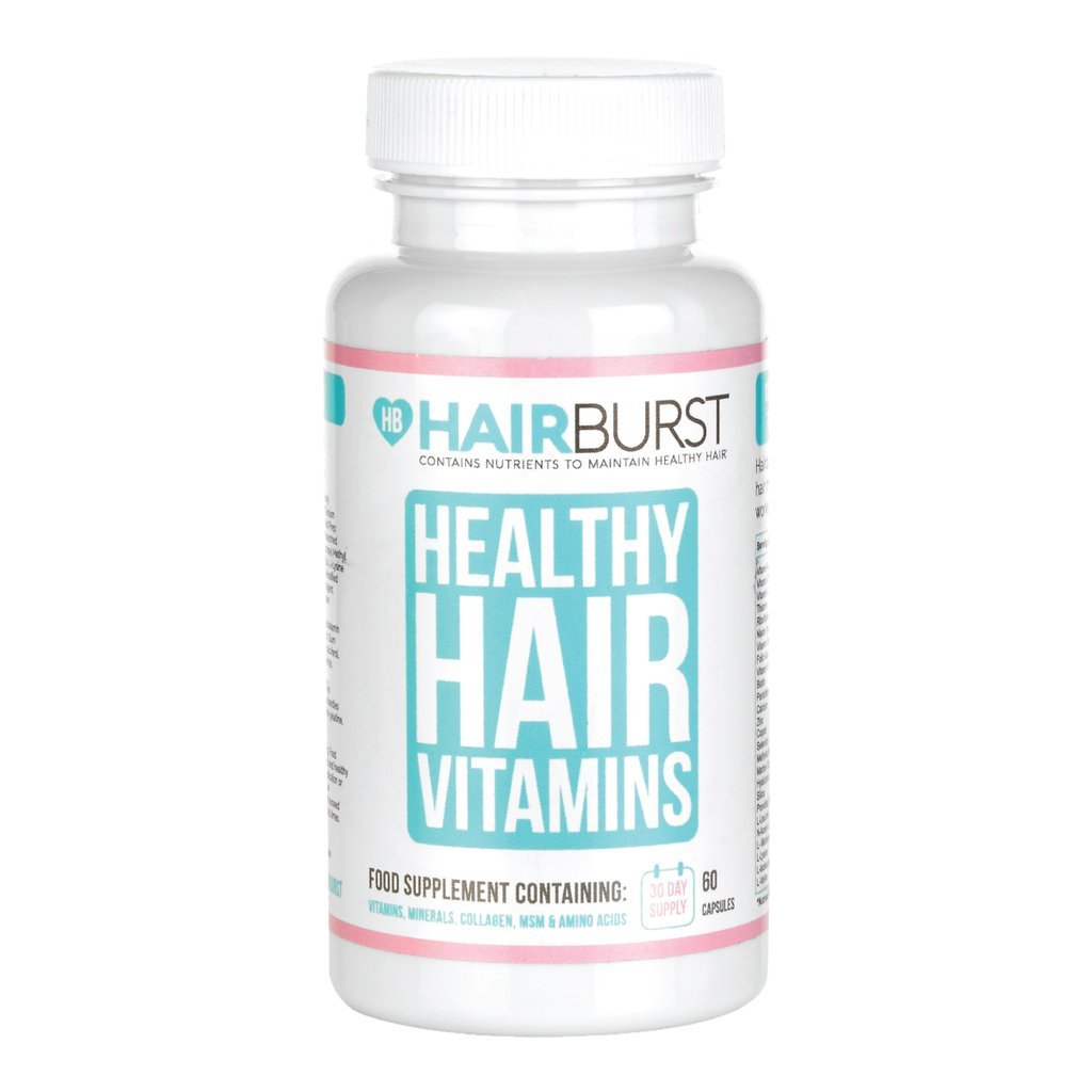 HAIRBURST Vitamins for Hair Growth - Single Month Supply - 60 Capsules - For Longer and Stronger Hair