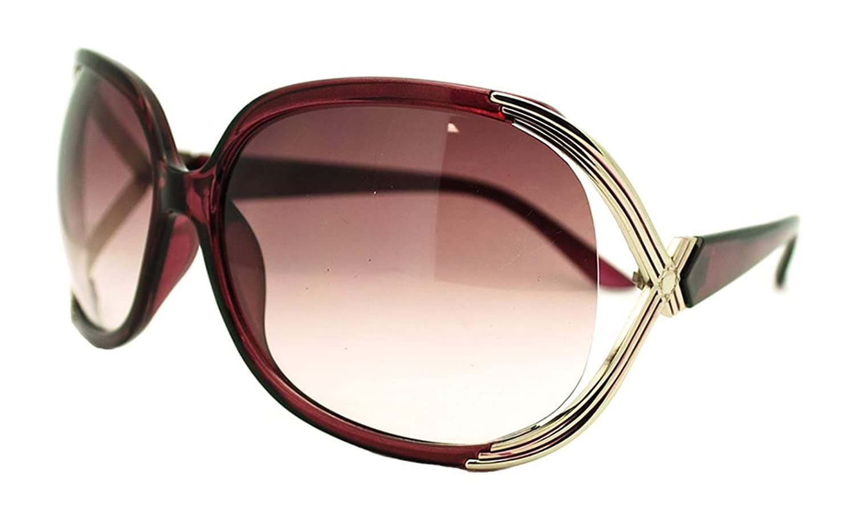 Brand-New Women's Designer Oversized Sunglasses with Bubble Lens-Purple