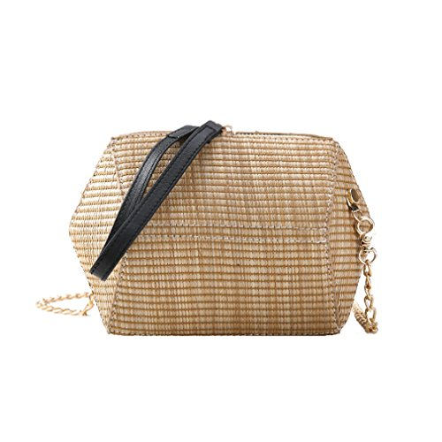 Amuele Shoulder Bag Beach Weave Khaki Messenger Women Knitting Traveling Straw Shape Bag Shell Holiday fPgqHf7wr
