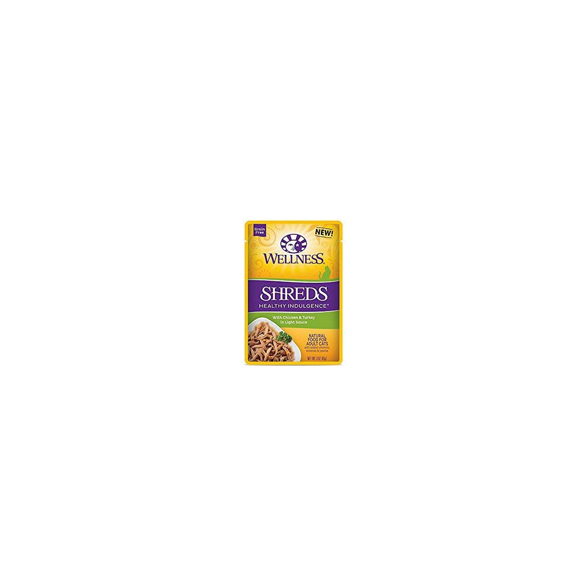 Wellness, Cat Food Pouch Healthy Indulgence Chicken Turkey, 3 Ounce by Wellness Natural Pet Food