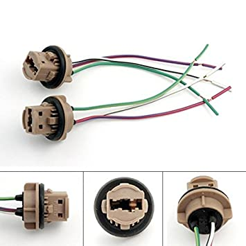 51YwzPmSWSL._SY355_ amazon com partssquare 2x 7440 7443 t20 plugs sockets extension Wiring Harness Diagram at soozxer.org