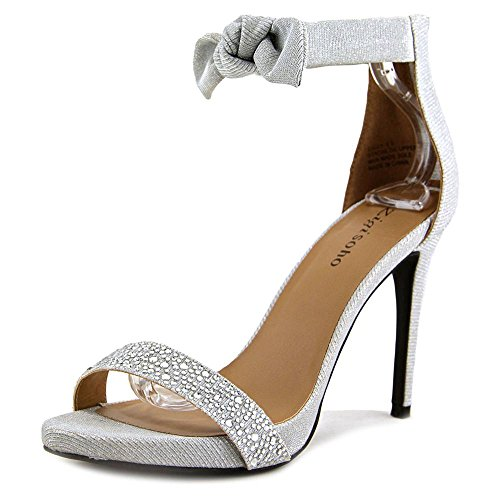 Special Toe Womens Ankle ZIGI SOHO Sandals Strap Occasion Open Silver Fabric SAULY qYgSF