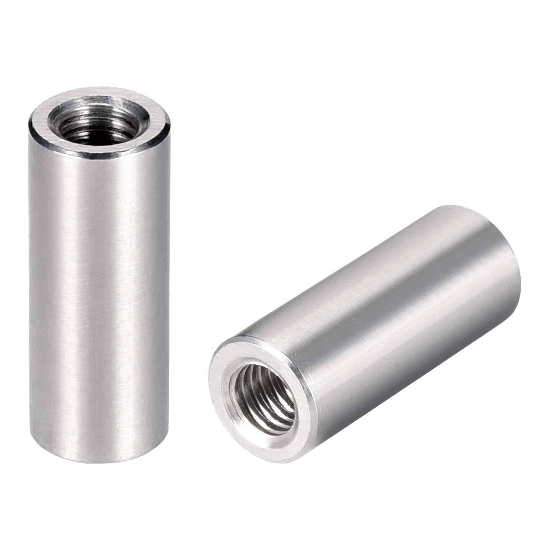 uxcell Round Connector Nuts, M6x25mm Height Sleeve Rod bar Stud Nut, Stainless Steel 304, Pack of 20 by uxcell