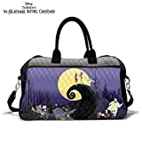 Disney Tim Burton's The Nightmare Before Christmas Quilted Weekender Tote Bag by The Bradford Exchange