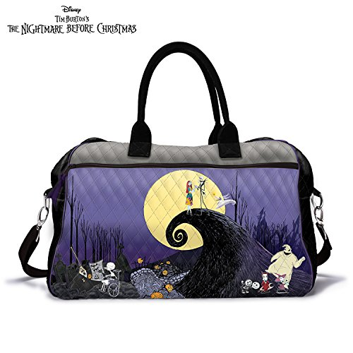disney tim burtons the nightmare before christmas quilted weekender tote bag by the bradford exchange by