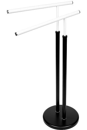 BAMODI Handtuchhalter Freistehend   Handtuchständer Bad 80x42x26 Cm    Stabiler Handtuch Ständer Mit Extra Schwerem Fuß