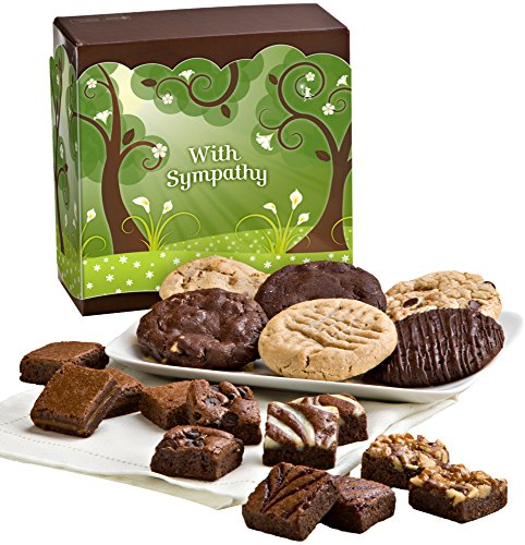Fairytale Brownies Sympathy Cookie & Magic Morsel Combo Gourmet Food Gift Basket Chocolate Box - 1.5 Inch x 1.5 Inch Bite-Size Brownies and 3.25 Inch Cookies - 18 Pieces