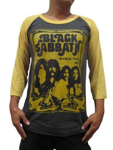 Bunny Brand Men's Black Sabbath Bloody Sabbath Ozzy Osbourne Music Raglan T-Shirt