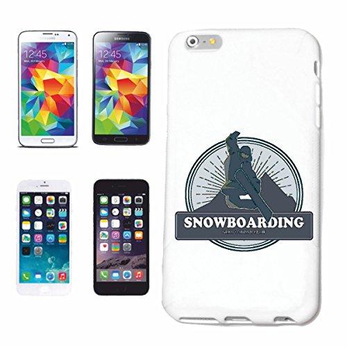 """cas de téléphone iPhone 7+ Plus """"SNOWBOARD SNOWBOARD SNOWBOARD RIDER SNOWBOARDER WINTER SPORT PISTES"""" Hard Case Cover Téléphone Covers Smart Cover pour Apple iPhone en blanc"""