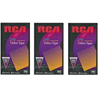 RCA T120 Hi-Fi Premium Grade VHS Video Tapes (3 Pk)