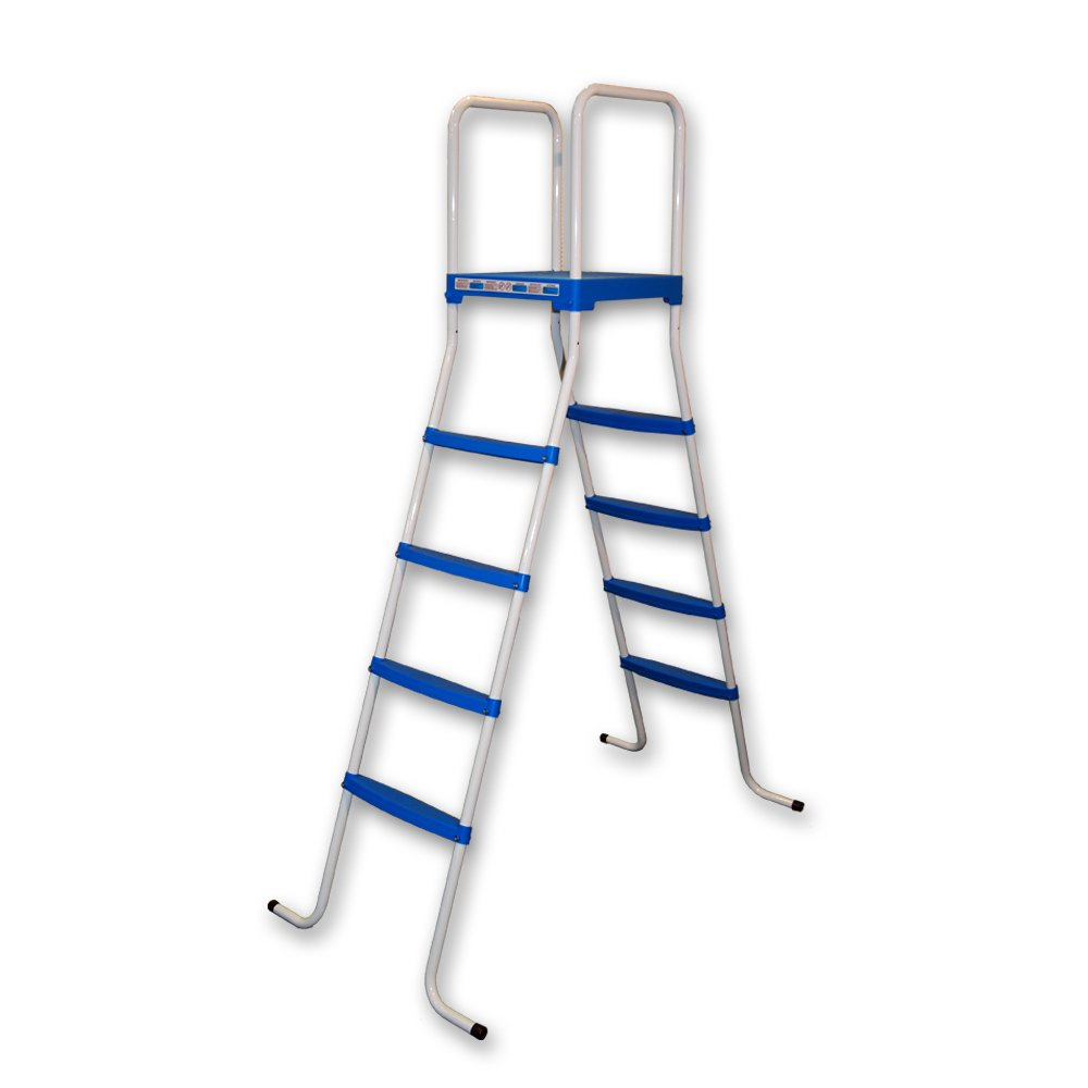 Piscinas Toi 4876 Escalera de 8 peldaños para Piscinas Desmontables Blanco 130x72x140 cm: Amazon.es: Jardín