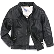 [Sponsored]LJYH Boys Leather Jacket New Spring Children's Collar Motorcycle Faux Leather Zipper Coat