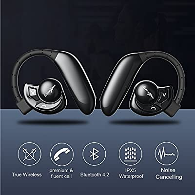 LiteXim Bluetooth Earbuds Bluetooth Wireless Earphones for Running with Mic (Waterproof IPX5, Passive Noise Reduction, No Dropping, Sports)