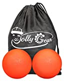JollyGear Lacrosse Massage Balls for Self Myofascial Release and Deep Tissue Trigger Point Therapy (2 Oranges, One Size)
