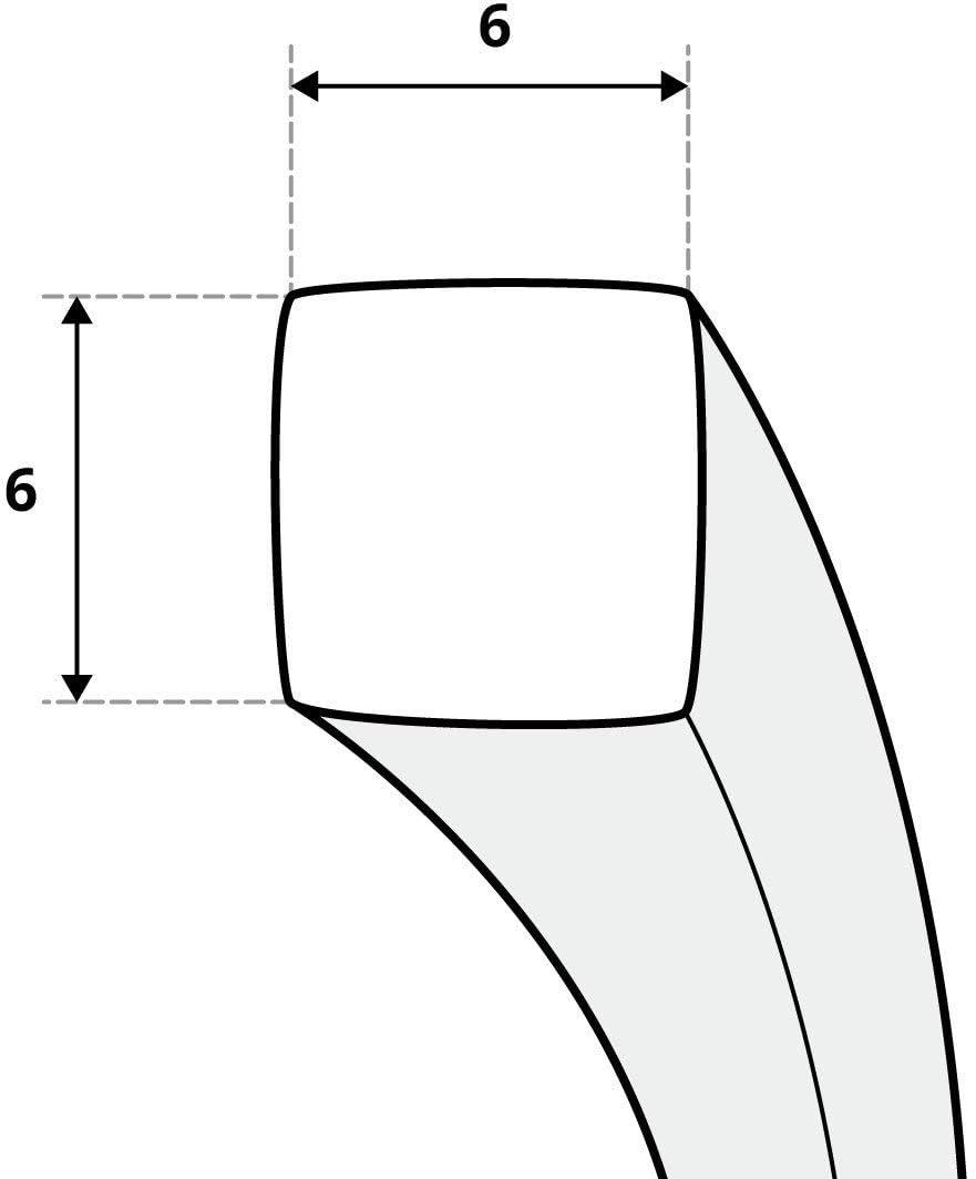 STEIGNER Cord/ón de Sellado Ceramico SKD01-6 6x6 mm con Adhesivo de Montaje T/érmico Sellado Resistente a Temperaturas hasta 1260/°C 1 m