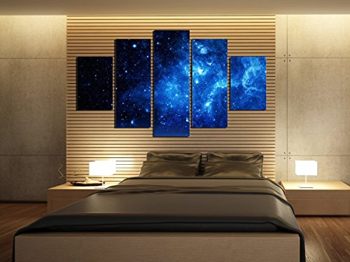 5 Panel Beautiful Starry Sky Modern Giclee Canvas Prints