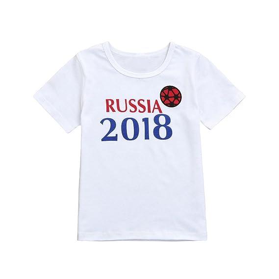 Lonshell Camisetas de Copa del mundo de Fútbol Niños Niñas Bebés Amor de Fútbol Ropa Bebés