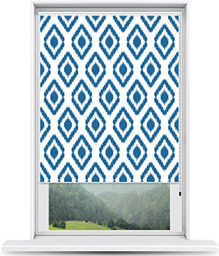 ShadePix Window Shade – Blackout Window Shade with Available in Size 22 x 36 Ikat Navy
