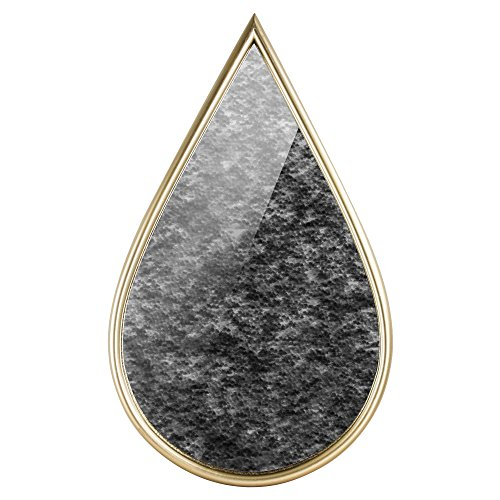 (American Art Decor Rustic Gold Teardrop Wall Vanity Accent Farmhouse Mirror)