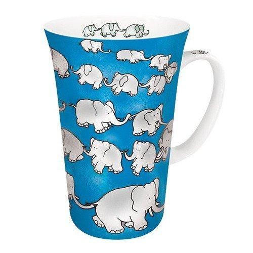 Konitz Mega Mug - Chain of Elephants - Blue
