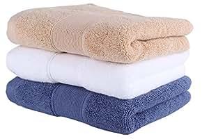 Set de 3 toallas de mano de lujo de algodón egipcio 700 GSM (36cm x
