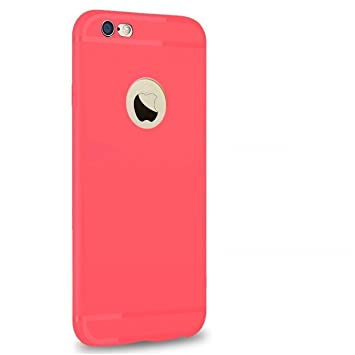 Enflamo Original Soft Silicone Slim Back Cover Case for Apple iPhone 6 & 6S (Red)