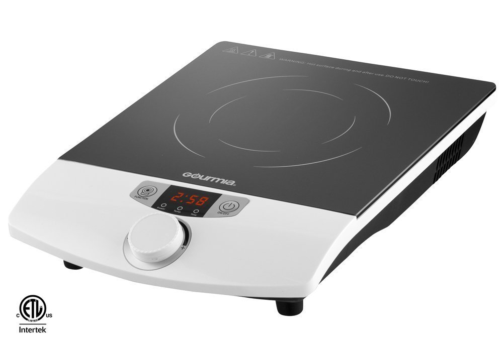 induction cooktop portable gourmia gic 100 multifunction portable 1800w induction 100