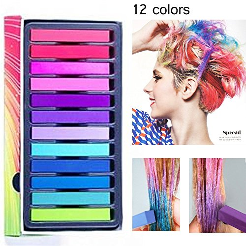 All Types Of Costumes (Hair Chalk, Temporary Hair Chalks Set - Great For Dress Up, Performance Costumes And Temporary Color for Girls for All Ages. Makes a Great Birthday Gifts For Girls.)