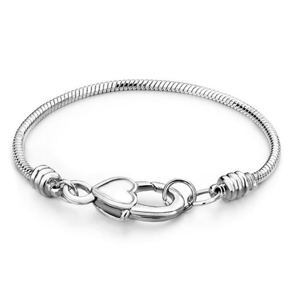 DemiJewelry-Snake-Chain-Heart-Clasp-Bracelet-for-European-Charms