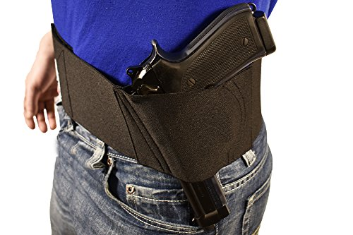BLUESTONE Black Pro Belly Band Fits Glock 17, - Blue Gun Revolver