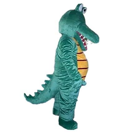 Amazon.com: Cocodrilo verde disfraz dibujos animados ...