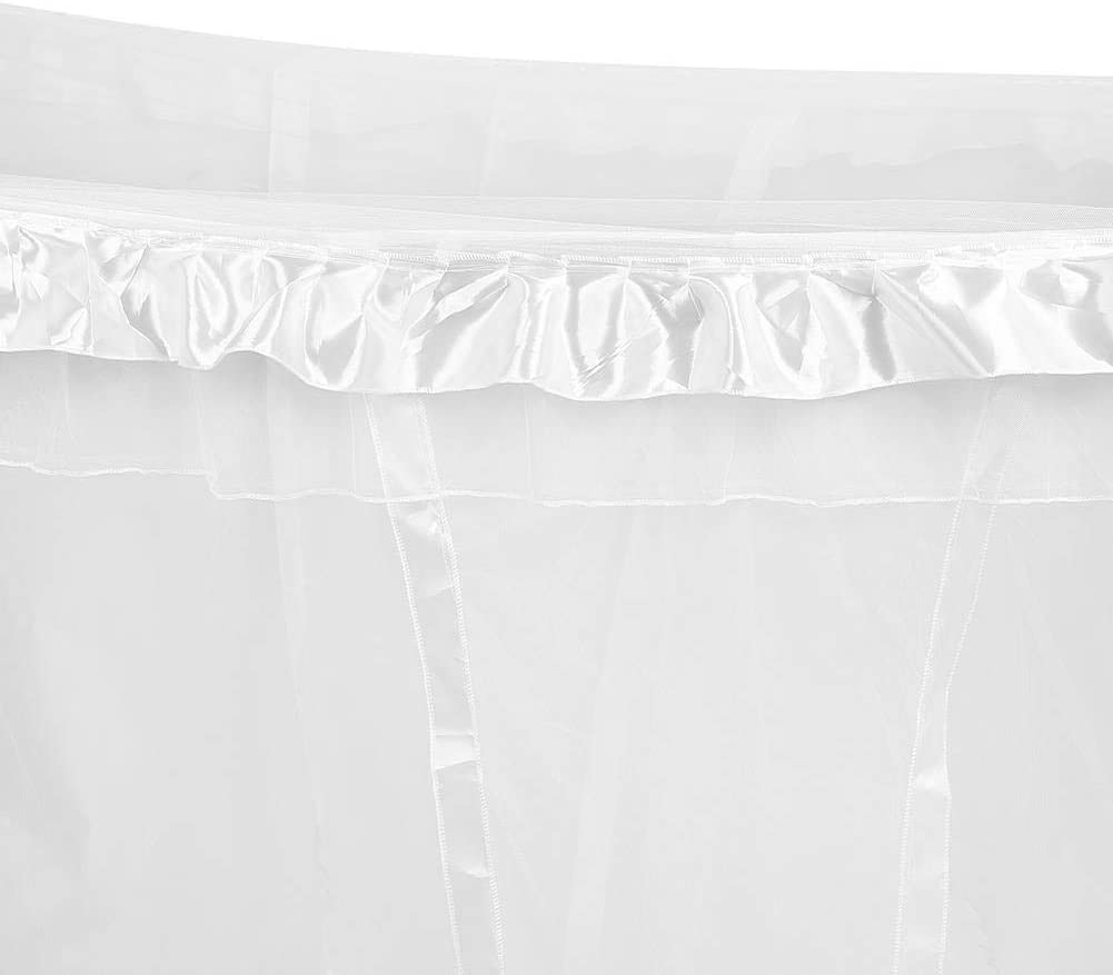 Mosquito Net Princess 4 Corner Post Bed Curtain Canopy Netting Bedding No Bracket #1-White