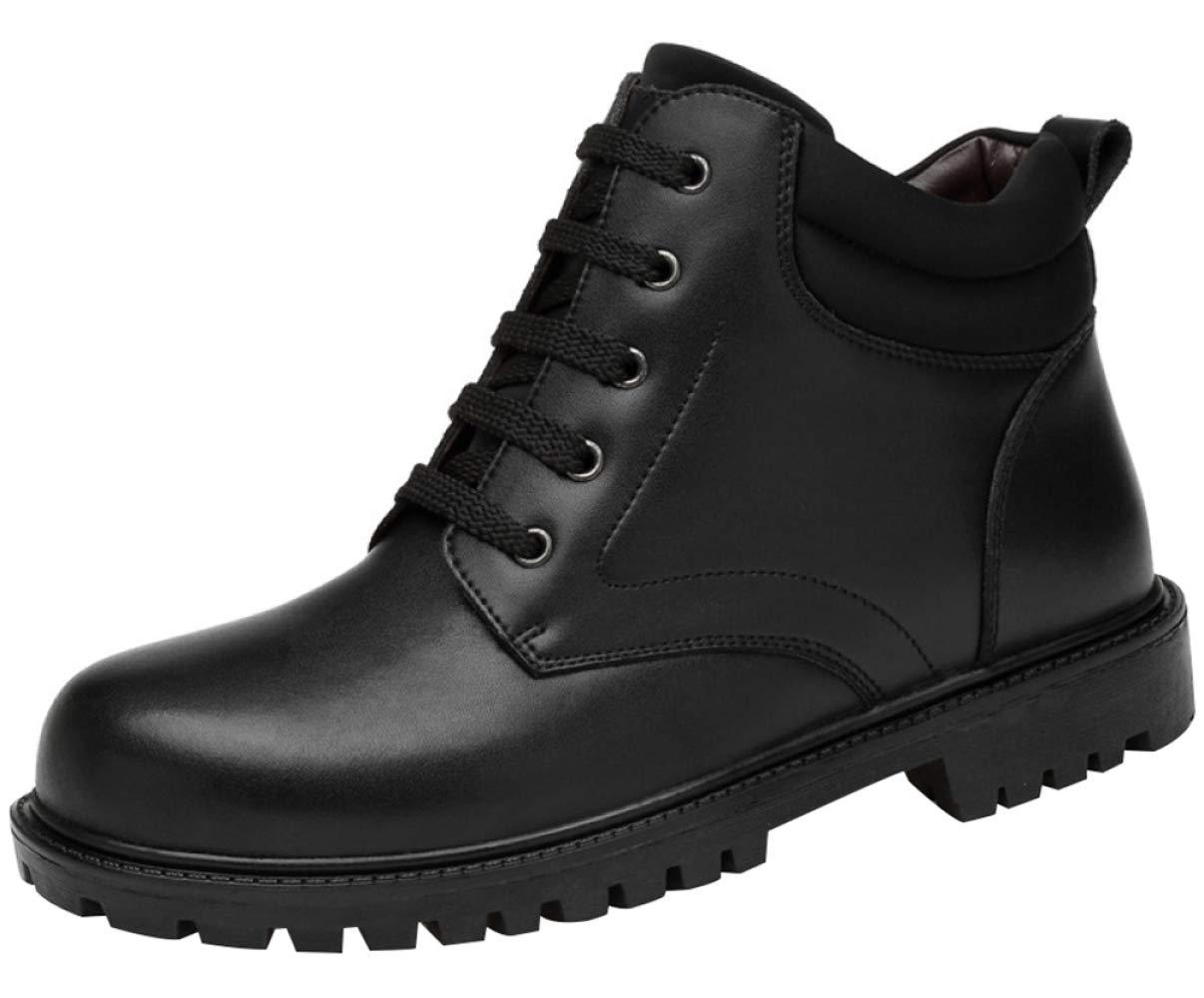 AILINSHA Stiefel Herren Outdoor Casual Stiefeletten Leder Warm Martin Stiefel Schuhe Schwarz Baumwolle Schuhe Stiefel Schneeschuhe 519e7b