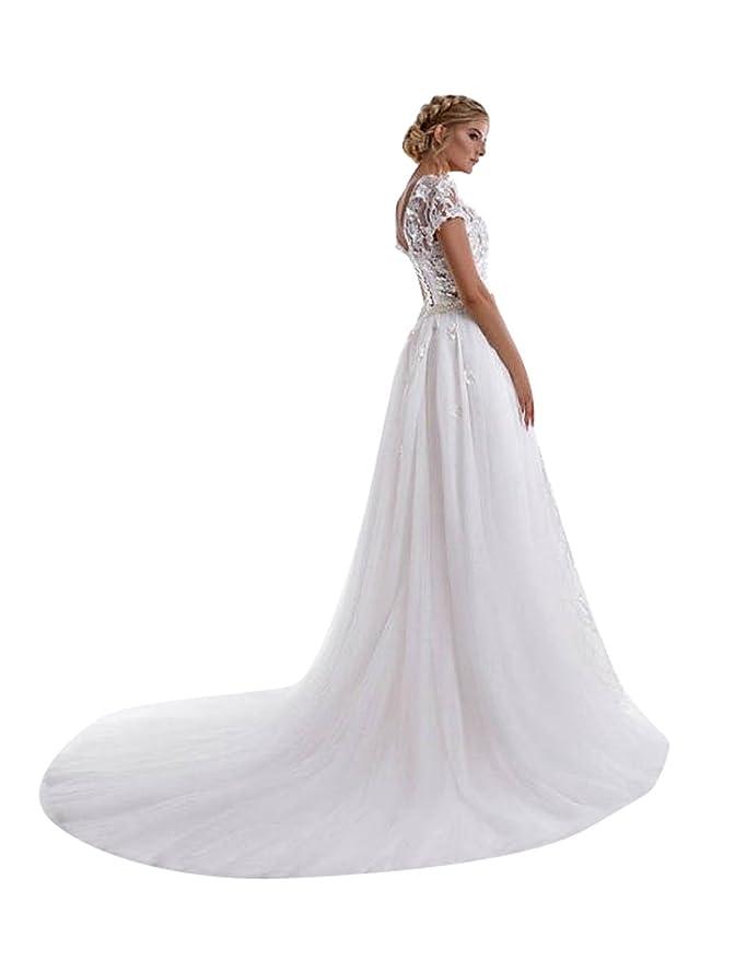 d4d09e7f06 flowerry Ivory Long Tutu Wedding Detachable Train Bridal Dress OverSkirt  Custom Color at Amazon Women s Clothing store