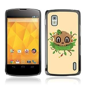 YOYOSHOP [Cute Wooden Skull Illustration] LG Google Nexus 4 Case