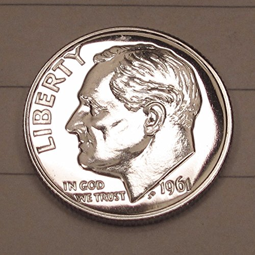 1964 Us Dime (1 - 90% Silver PROOF Roosevelt Dime Date Range-1961-1964 Silver PROOF Dime Uncirculated US Mint GEM Silver PROOF Dime Gem Proof US Mint)
