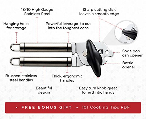 powerlix stainless steel manual can opener