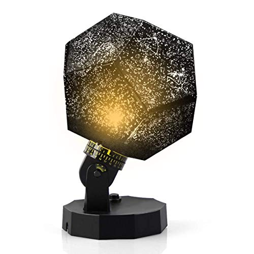 (DIY Science Sky Projection Night Light Projector Lamp, Phantom Star Projector Night Lamp with 12 Romantic Constellation for Gift, Birthday, Party, Children's Day, Christmas, Anniversary)