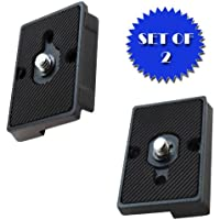 Quick Release Plate for the RC2 Rapid Connect Adapter (SET OF 2) for MANFROTTO 322RC2
