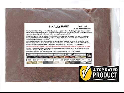 - Finally Hair Fibers Refill Bag - 56 Grams of Premium Hair Loss Concealer in a Refill Bag (Auburn)