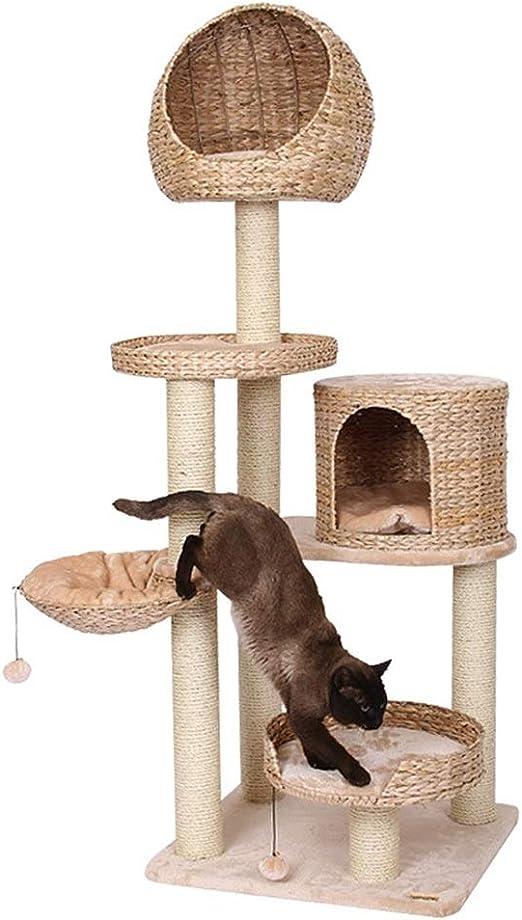 Centro De Actividades Post Scratcher Gato grande de lujo columpio gato torre del juguete del gato