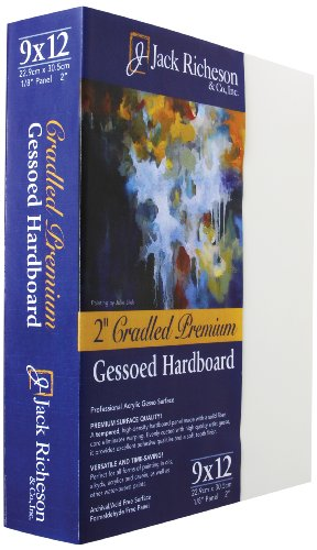 Jack Richeson 2-Inch Premium Tempered Gessoed Hardboard Panel, 9 by 12-Inch by Jack Richeson