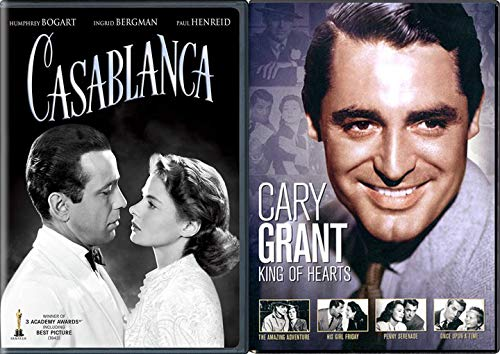 Friday Love Adventure Movie Legend Cary Grant & Humphrey Bogart / Casablanca + His Girl / Once Upon A Time / Penny Serenade / Amazing King Hearts DVD Classic Feature Hollywood Studio Star Collection