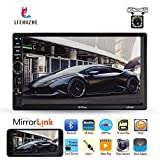 Liehuzhekeji Double Din Car Stereo Multimedia Player, 7'' LCD Touch Screen, Support Build-in