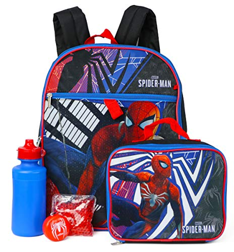 Spider-Man 5-Piece Backpack Set - red/black, one size]()