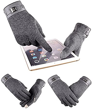 RGANT Winter Warm Touch Screen Gloves for Men,Cold Weather Gloves for Cycling