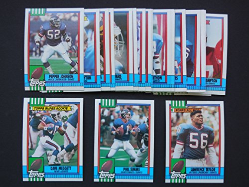 New York Giants 1990 Topps Football Master Team Set with Year-End Traded Cards (Super Bowl Champions) (Phil Simms) (Mark Bavaro) (Lawerence Taylor) (Rodney Hampton Rookie) (Dave Meggett) ()