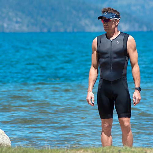 Synergy Triathlon Tri Suit Men's Trisuit (Blue/Geo, Small) by Synergy (Image #4)